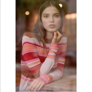 FREE PEOPLE ✨ Show Off Your Stripes Sweater 70's